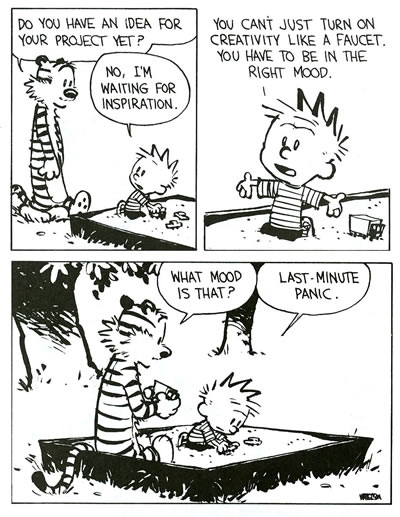 Calvin and Hobbes Panic