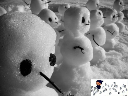 Calvin-and-Hobbes-esque-Tiny-litle-snowman-army